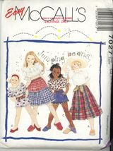 Girls Patterns -Top, Skirt, Shorts McCall's 7027  Vintage Size 14 Partia... - $3.00