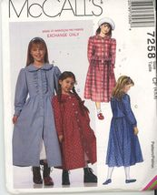 McCalls 7258 Sz 4 5 6 Childrens and Girls Dress and Petticoat UNCUT - $2.00