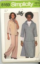 Vintage Sewing Pattern UNCUT Pullover Top Pants Skirt Simplicity 8169 Si... - $5.50