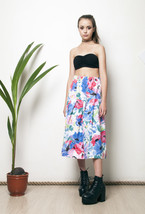 80s printed floral pleated skirt - $38.31