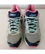 Asics Pink Blue T550N  Running Shoes Women's Size 10.5 Sneakers - $22.44