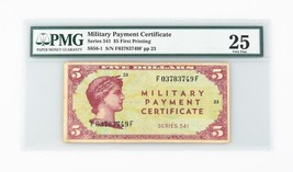 1958 US Military Payment Certificate VF-25 PMG MPC Series 541 P.SM41 - $2,219.23