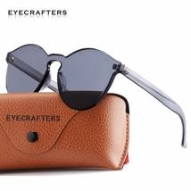 ca495046d7b EYECRAFTERS® UV400 Fashion Round Women Sunglass Cat Eye Shades Brand Des...  -