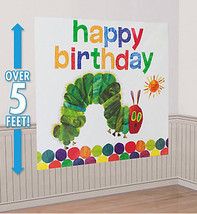 THE VERY HUNGRY CATERPILLAR Scene Setter HAPPY BIRTHDAY party wall backdrop - $16.82