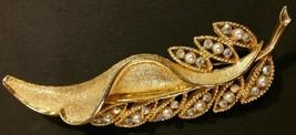 Vintage Leaf Brooch - $9.90
