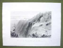 CANADA Montmorency Falls Summit - 1841 Engraving Print by BARTLETT - $14.85