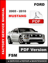 Ford Mustang 2005 - 2010 Coupe & Convertible Service Repair Workshop Fsm Manual - $14.95