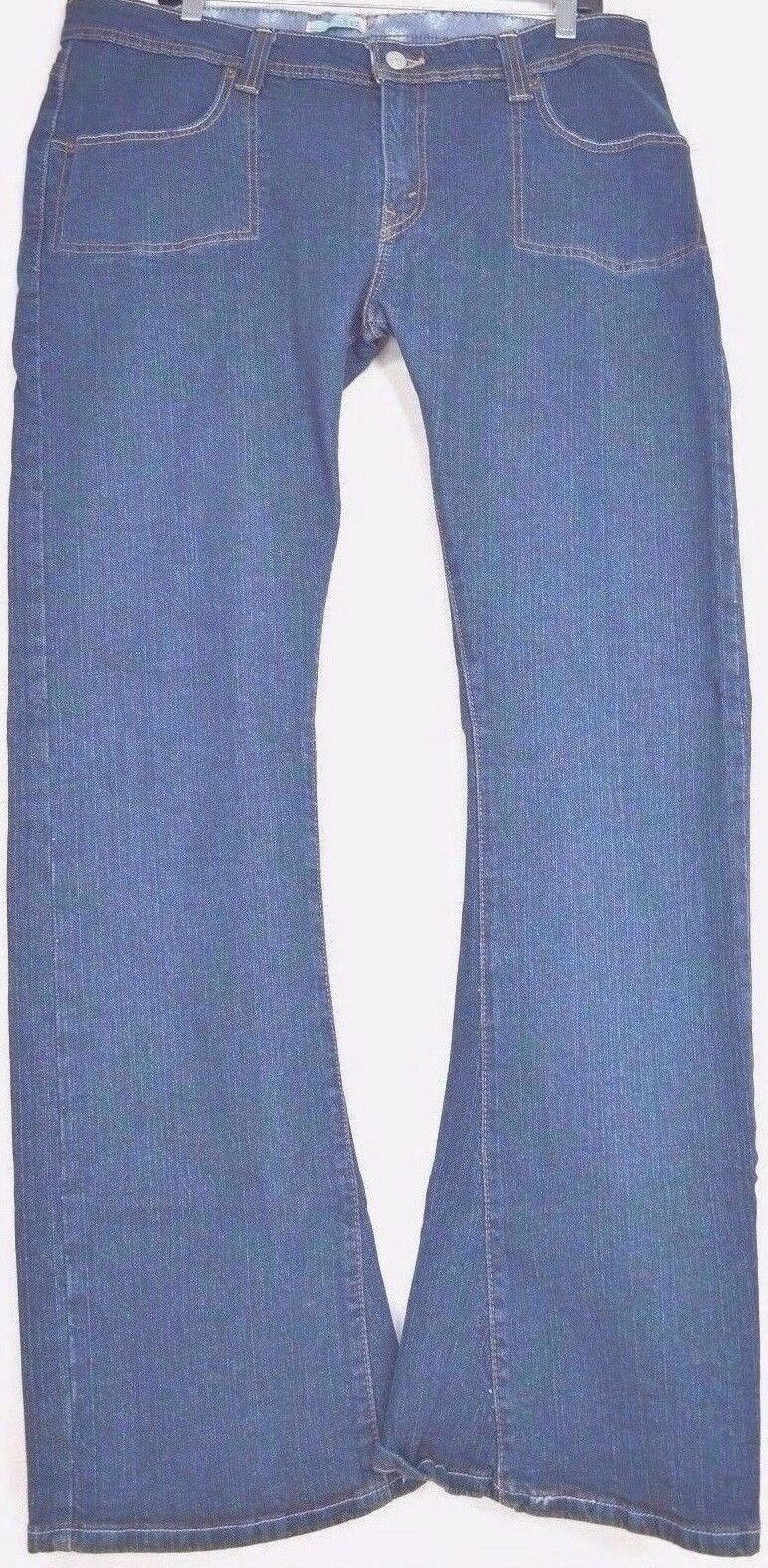 Levi 542 jeans SZ 16 x 33 M bootcut mid rise dark wash stretch W37 L33 tall long