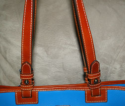 Dooney & Bourke Pebble Leather Convertible Shopper ICE BLUE image 6