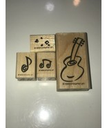 Stampin Up Musical 1999 Retired Rubber Stamp lot 16 Music Stamps - $23.36