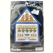 Bucilla Counted Cottages Cross Stitch Kit Gardeners Know Sandy Orton 1994 - $12.61