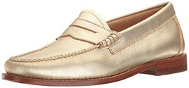 G.H. Bass & Co. Women's Whitney Penny Loafer, Gold, 9 M US - $79.87
