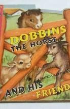 Vtg 1949 Lolly Pop Mini Book DOBBINS THE HORSE Diecut MINT CLEAN Unopene... - $20.25