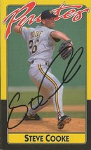 Steve Cooke Signed Vintage Pittsburgh Pirates postcard - $18.51