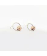 Copper & Silver Studs - 925 Sterling Silver Stud Earrings. - $28.80