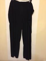Womens Stretch Slacks Pants Lane Bryant Black 26 28 EUC - $25.24