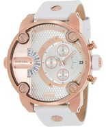 Diesel Little Daddy DZ7271 Rose Gold Tone and white Band Men's Watch - $149.90