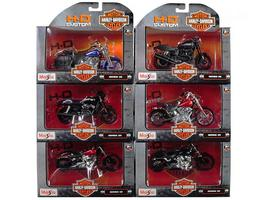 Harley Davidson Motorcycle 6pc Set Series 35 1:18 Diecast Models by Maisto - $74.27