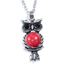 RED BELLY OWL NECKLACE >> COMBINED SHIPPING <<   (6506) - $3.95