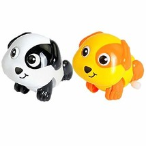 PANDA SUPERSTORE Set of 2 Cute Animals Wind-up Toy for Baby/Toddler/Kids, Pup(Co