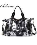 Arliwwi Brand Luxury Quality Metalic Gold Silver Real Leather Large Tote... - $94.99+