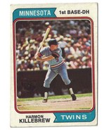 1974 Topps Harmon Killebrew VG-EX Minnesota Twins #400 - $3.00