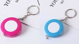 One Tape Measure Retractable Ruler Tool Keychain Keyring Sewing Cloth  6... - $3.31