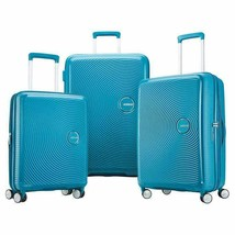 American Tourister Curio Luggage Blue 3-Piece Hard-Sided Spinner Wheels - $268.99