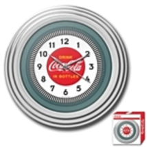 30's Style Chrome Coca-Cola Wall Clock - £33.65 GBP