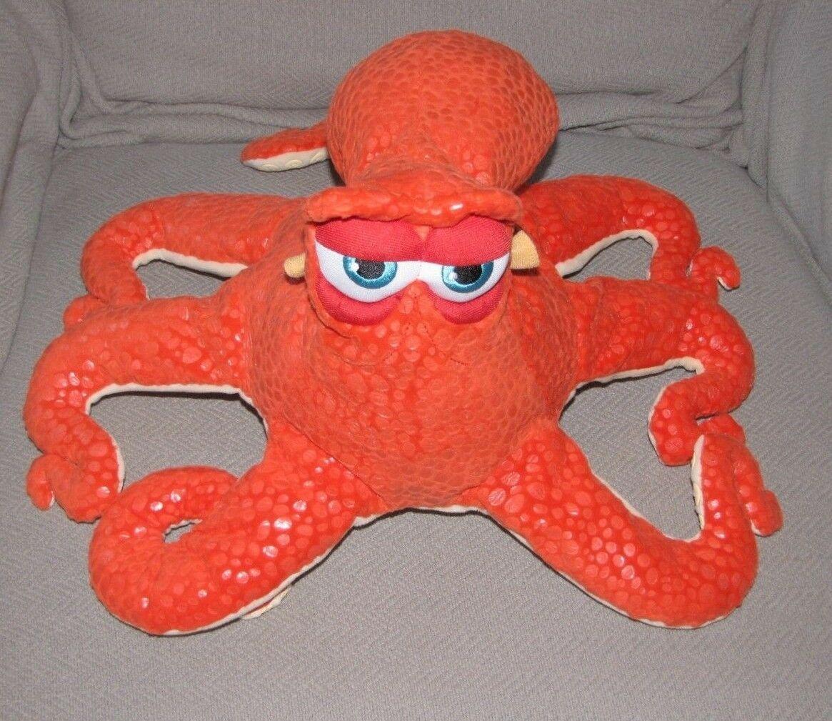 "Finding Dory HANK Octopus 17"" Plush Orange Squid Disney Store Nemo Stuffed"