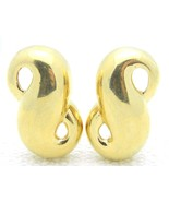 VTG GIVENCHY Paris New York Gold Tone Figure 8 Twist Large Clip Earrings - $99.00