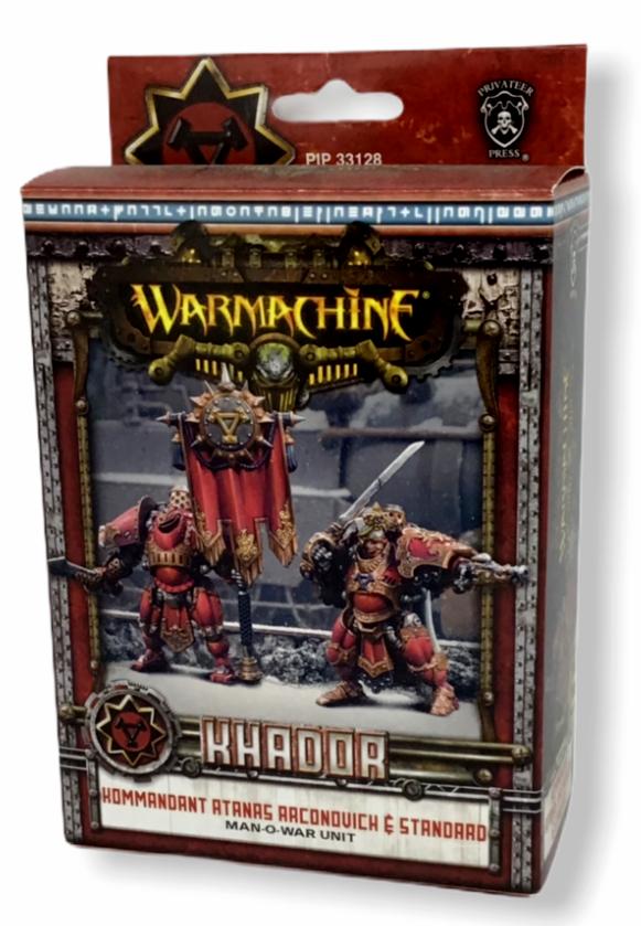 Warhammer Khadoa Kommandant Atanas AAconquich Man O War Miniatures Unit PIP33128 - $49.49