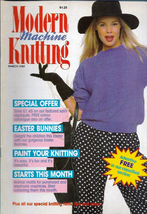 Modern Machine Knitting Mar 1989 Magazine Childs Baseball Sweater, Easte... - $5.69
