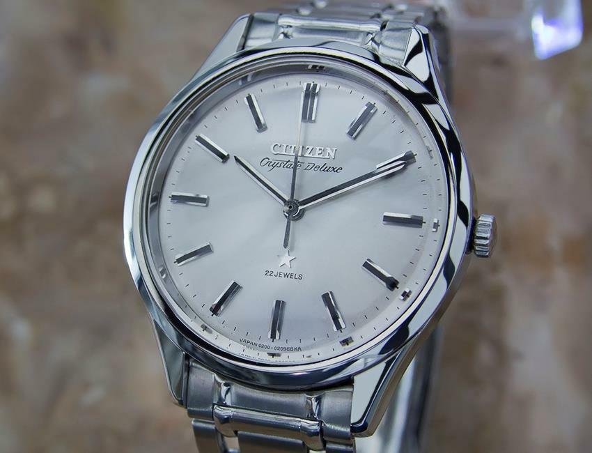 Primary image for Citizen Crystate DeLuxe 22 Jewel Manual Made in Japan 1970s Mens Watch Y69