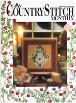 Country Stitch Monthly Journal of Cross Stitch Designs Back Issue Nov 1988 - $6.00