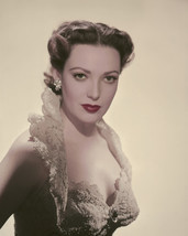 Linda Darnell stunning lace bare shoulder gown wrapped around neck 11x14 Photo - $14.99