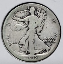 1916S Walking Liberty Half Dollar 90% Silver Coin Lot# E 140