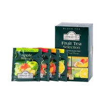 Ahmad Fruit Tea Selections 4 Flavors, 20 ct Tea Bags, - $8.90
