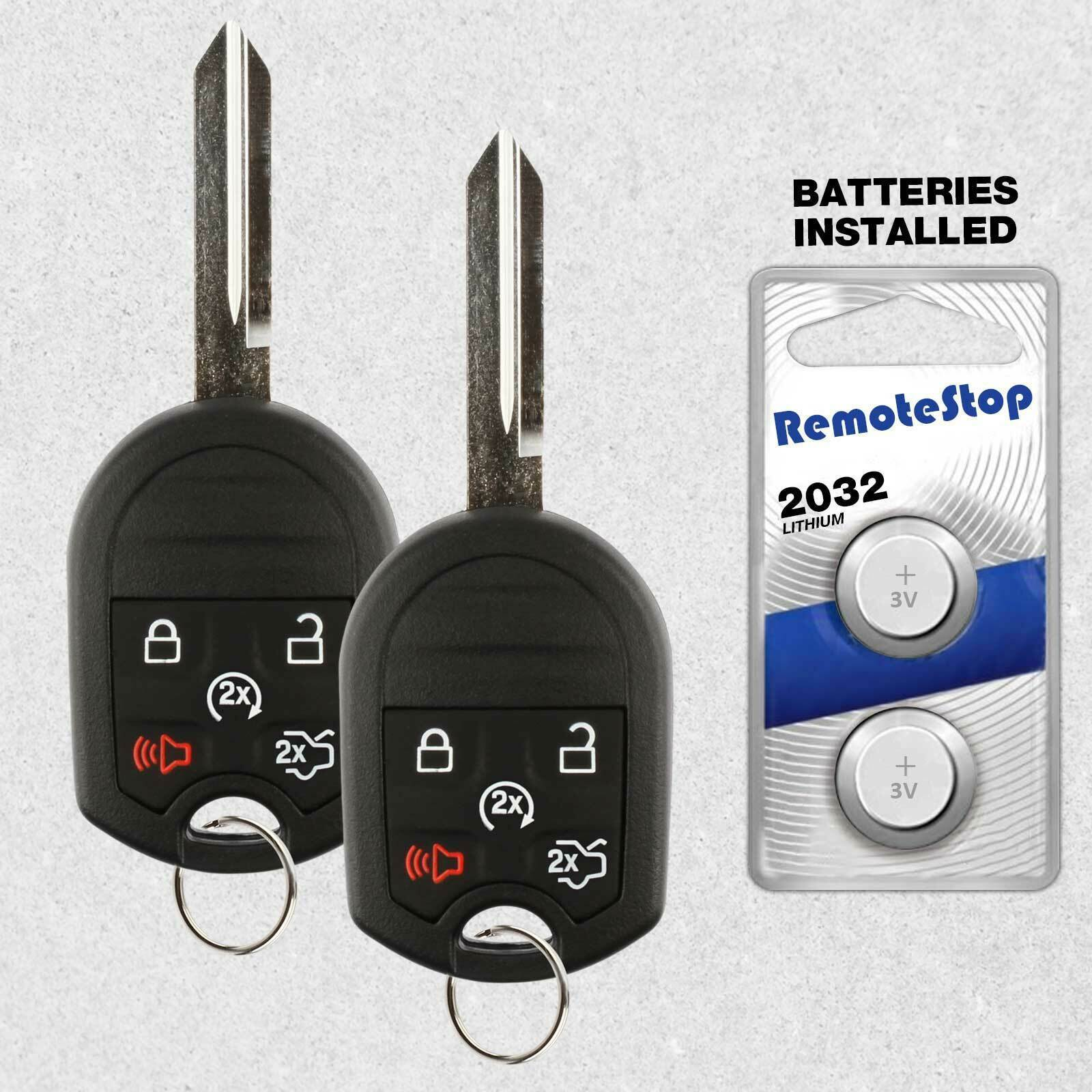 Primary image for 2 For 2011 2012 Ford Focus Fusion Keyless Entry Uncut Car Remote Start Key Fob