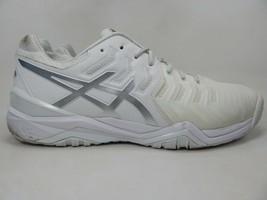 Asics Gel Resolution 7 Size 14 M (D) EU 49 Men's Tennis Court Shoes White E70