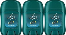 Degree Cool Rush Antiperspirant and Deodorant, 0.5 Ounce Travel Size Pac... - $8.05
