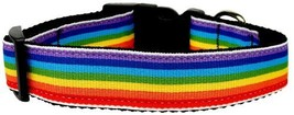 Dog Collars and Leashes - Rainbow Striped Nylon... - $8.00