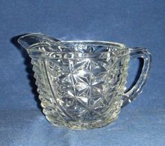 Depression Glass Creamer 1940's Stars & Bars An... - $9.90