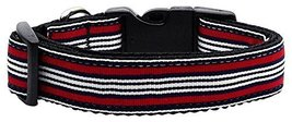 Dog Collars and Leashes - Preppy Stripes Nylon ... - $12.00