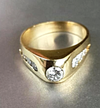 "NOS ""HighPoint' 7_DIAMOND 14K Modern RING(1.04 ctw) Solid Y.GOLD~5.7g~Si... - $1,300.00"