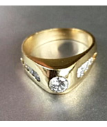 """NOS """"HighPoint' 7_DIAMOND 14K Modern RING(1.04 ctw) Solid Y.GOLD~5.7g~Si... - $1,300.00"""
