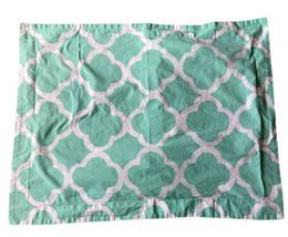 "POTTERY BARN TEEN EURO SHAM Teal Green White Cotton Percale 29 ""x 23"" - $12.16"