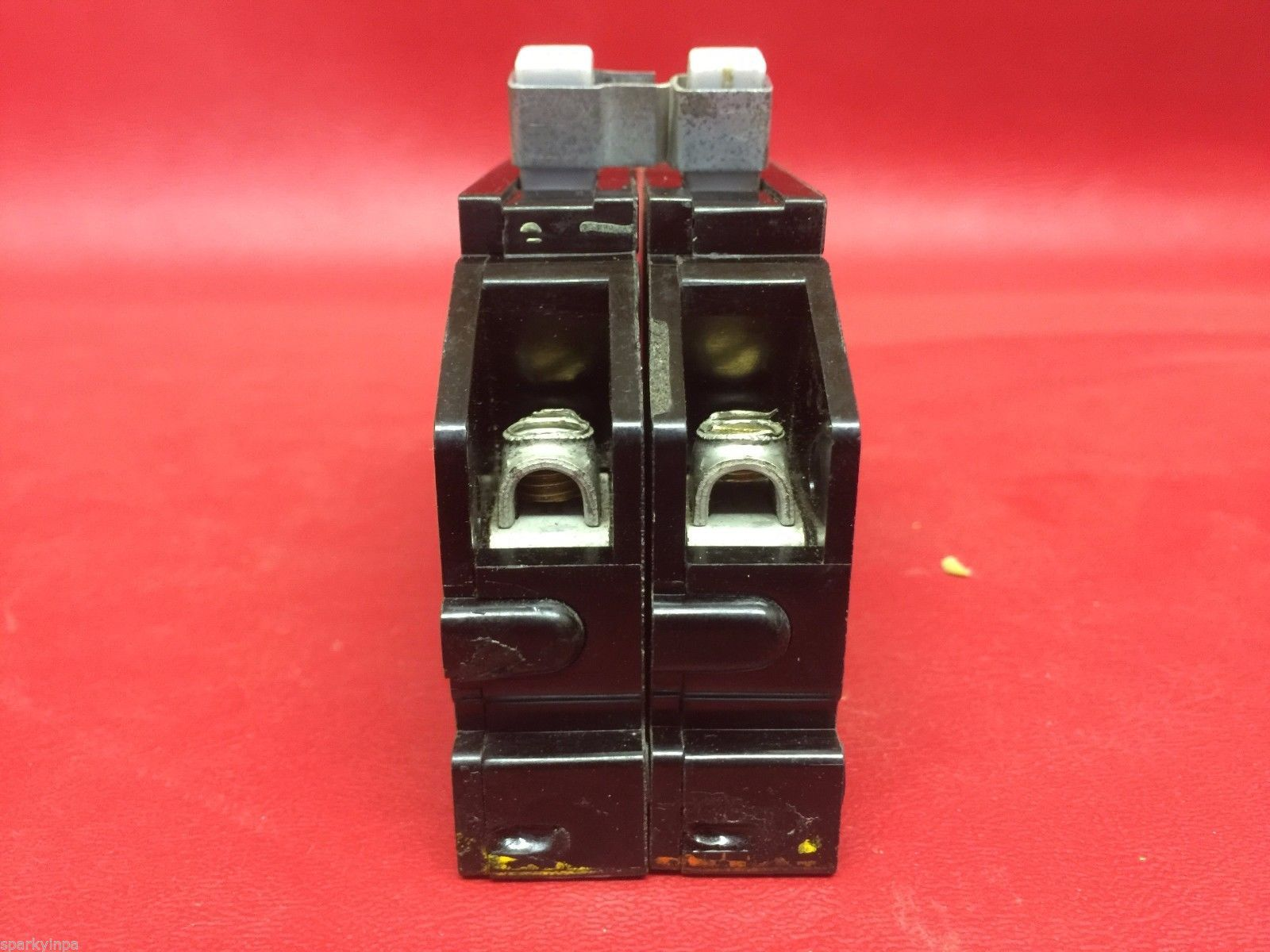 40a zinsco breakers 40 amp 2 - 1 pole with tie clips