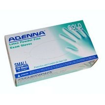 Adenna GLD265 Gold Latex PF Exam Gloves, Medium, 100 Count (Pack of 10) - $78.89