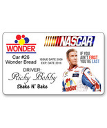 RICKY BOBBY TALLADEGA NIGHTS NAME BADGE PROP HALLOWEEN COSPLAY PIN BACK - $13.85